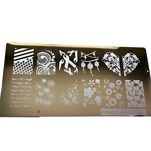 Togethor DIY Nail Art Image Stamp Stamping Plates Manicure Template Christmas Snowflake Plate Design for Decoration