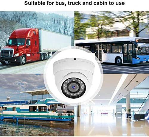 KIMISSバスAHDカメラ、1080p CCTVカメラドームカメラ監視NTSCシステムバスボートカー用デイナイトビジョン(白)