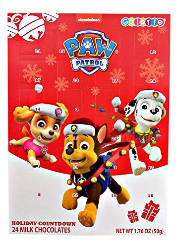 Paw Patrol 2018 Christmas Holiday Countdown Calendar with 24 Milk Chocolate, 1.76 oz