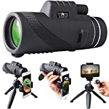 Monocular Telescope by AIPNIS - 12x50 HD Waterproof Shockproof Fog-proof Low Light Night Vision Scope with Smartphone Mount Adapter and Tripod - Bak4 Prism Fmc for Outdoor Bird Watching Hunting Hiking