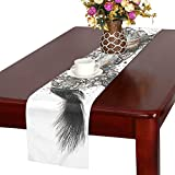 Horse Mammal Animal Nature Equestrian Brown Table Runner, Kitchen Dining Table Runner 16 X 72 Inch For Dinner Parties, Events, Decor