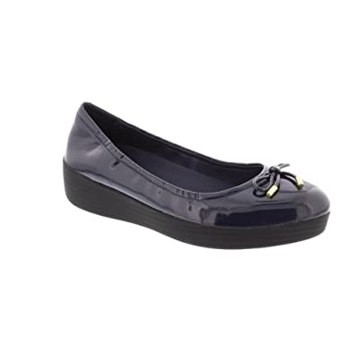 5a33de4c1 FitFlop Superbendy Ballerina - Midnight Navy Patent (Man-Made) Womens Shoes  6.5 UK  Amazon.co.uk  Shoes   Bags