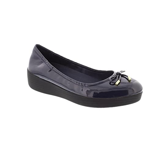 5f26112c4e84 FitFlop Superbendy Ballerina - Midnight Navy Patent (Man-Made) Womens Shoes  3 UK  Amazon.co.uk  Shoes   Bags