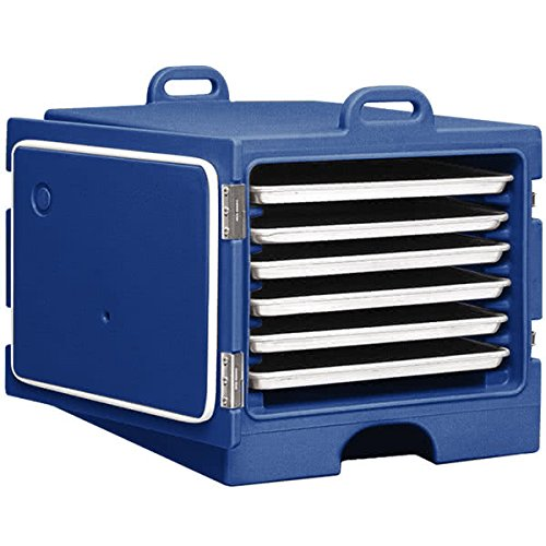 TableTop king Camcarrier 1826MTC186 Navy Blue Insulated Tray / Sheet Pan Carrier - Front Load Holds Full Size Pans ()