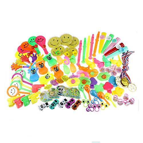 Zcoins 100PCS Toy Assortments for Kids Party Favors Supplies Girl Boy Birthday Gift Bags Pinata Fillers Children Carnival Prizes School -
