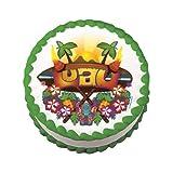 Edible Tropical Luau Cake Decal (1 pc) [Misc.]