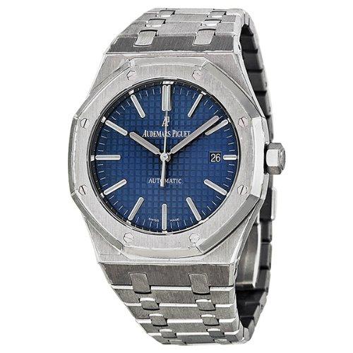 Audemars Piguet Royal Oak Blue Dial Stainless Steel Mens Watch 15400ST.OO.1220ST.03