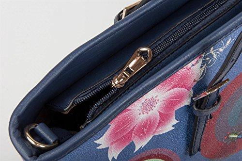 styleBREAKER - Bolso cruzados de Material Sintético para mujer Azul - azul