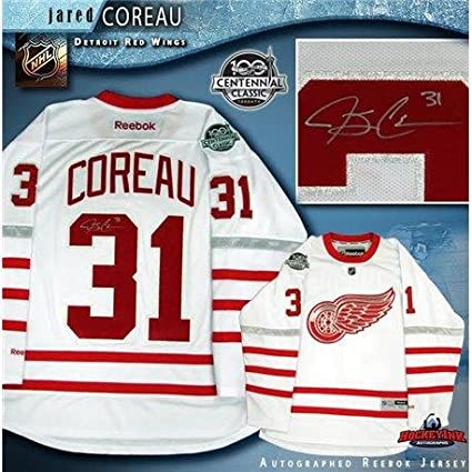 Image Unavailable. Image not available for. Color  Jared Coreau Autographed  Jersey - 2017 Centennial Classic White Reebok Patch - Autographed NHL  Jerseys a27fb8656