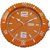 ORANGE Wanduhr Quartz Uhr Rund Modern Deko Trend Watch Küchenuhr Diele Küche Uhr