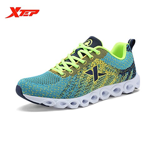 XTEP Mens Sports Shoes Athletic Running Shoes (Green) - 1