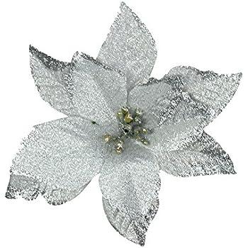 Amazon.com: 6Pcs 5 Inch Glitter Artificial Wedding Christmas ...