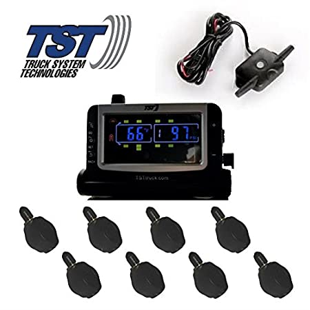 Truck Systems Technology TST 507 Tire Pressure Monitor w//8 Flow-Thru Sensors with Color Display