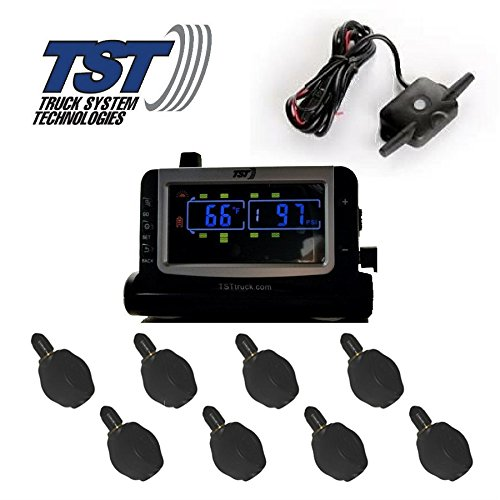 (Truck Systems Technology TST 507 Tire Pressure Monitor w/8 Flow-Thru Sensors with Color Display)
