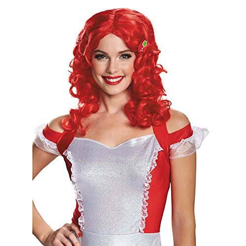 Disguise Women's Strawberry Shortcake Deluxe Adult Costume Wig, Pink, One Size (Adult Short Pink Wig)
