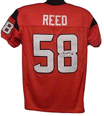 brooks reed autographed jersey red size xl 12836 autographed nfl rh amazon com