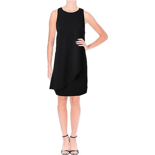Lauren Ralph Lauren Womens Sleeveless Drape Cocktail Dress Black 10