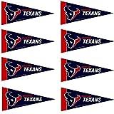 Houston Texans NFL Team Logo Home Office Bedroom Garage Decoration - Mini Pennant Set - 8PC
