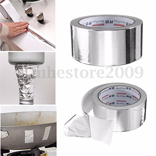2pc [WALLER PAA] 50mm x 25m Silver Roll Aluminium Adhesive Foil Sealing Tape Heating Duct Repairs