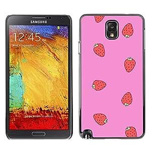 PC/Aluminum Funda Carcasa protectora para Samsung Note 3 N9000 N9002 N9005 strawberry red pink pattern summer / JUSTGO PHONE PROTECTOR