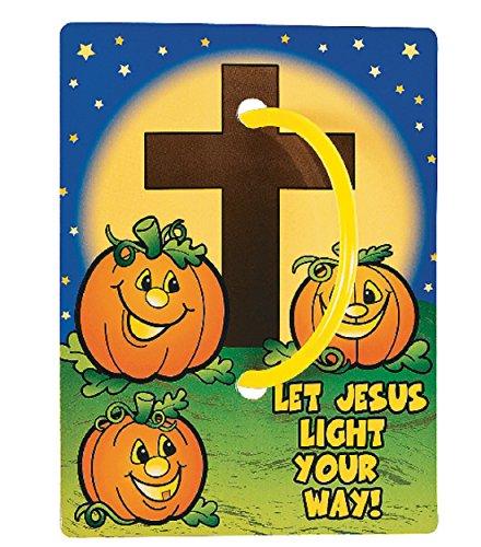 Fun Express Christian Halloween Glow In The Dark Bracelets, Christian Glow Sticks, Halloween Glow Sticks, Christian Pumpkin,12 Pack