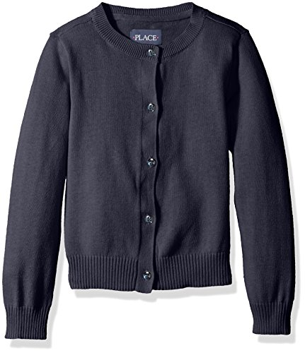 (The Children's Place Baby Girls' Toddler Uniform Cardigan Sweater, Tidal, 4T)