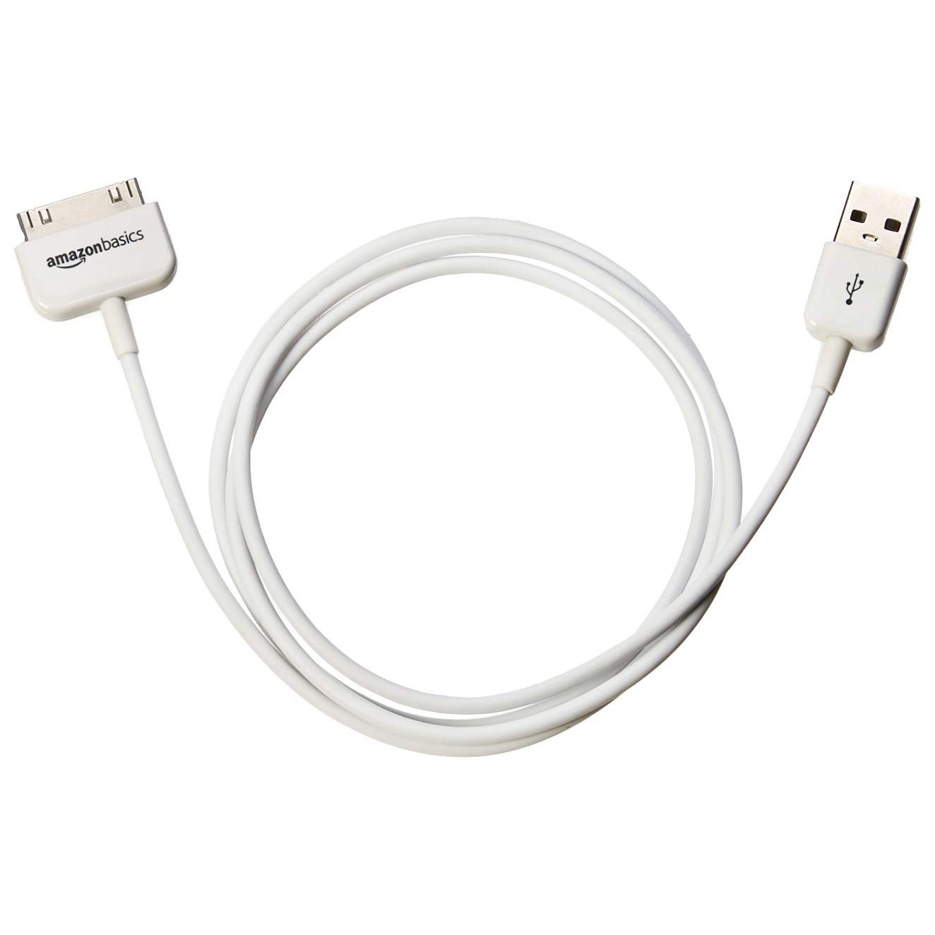 AmazonBasics Apple Certified 30-Pin to USB Cable for Apple iPhone 4, iPod, and iPad 3rd Generation - 3.2 Feet (1.0 Meter)