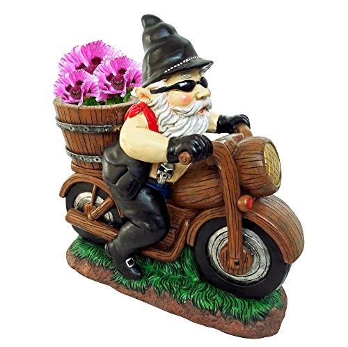 Gnome Planter (Alpine Biker Gnome Planter For Indoor/Outdoor Use - 12