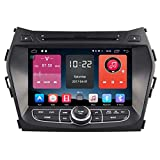 Autosion In Dash Android 6.0 Car DVD Player Sat Nav Radio Head Unit GPS Navigation Stereo for Hyundai ix45 Santa Fe 2013 2014 2015 2016 Support Bluetooth SD USB Radio OBD WIFI DVR 1080P