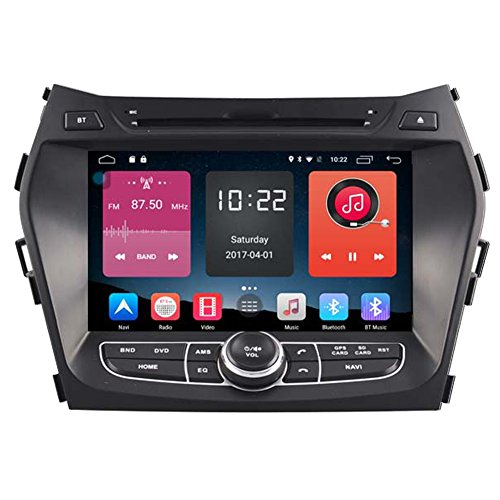 Autosion In Dash Android 6.0 Car DVD Player Sat Nav Radio Head Unit GPS Navigation Stereo for Hyundai ix45 Santa Fe 2013 2014 2015 2016 Support Bluetooth SD USB Radio OBD WIFI DVR 1080P by Autosion