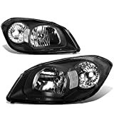 chevy cobalt bumper - Chevy Cobalt/Pontiac G5/Pursuit Pair of Black Housing Clear Corner OE Style Headlight
