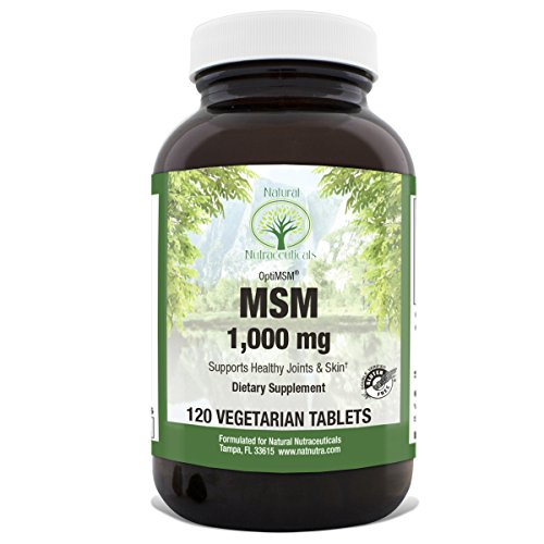 Msm 1000 Mg 120 Tablets - Natural Nutra OptiMSM Supplement with Methylsulfonylmethane, Sulfur for Joint Support, 1000 mg, 120 Vegan Tablets
