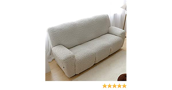 SQINAA Stretch Recliner Slipcover,Jacquard Sofa Cover Fit Sofa slipcover,3 Cushion Couch 1-Piece Furniture Protector for Pets-B Two Seats