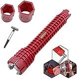 Multifunktionellt kranskiftnyckel, vask installatör skiftnyckel VVS verktyg vattenrörsnyckel för kök VVS reparation…