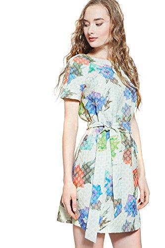 estivo floreale da maniche line casual vestiti vestito Bianco Love Nothing con corte A But donna estivi Albina Abito mini Fq6HwRKt