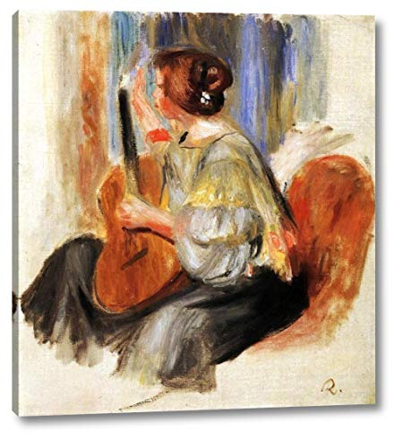 (Woman with Guitar by Pierre Auguste Renoir - 20