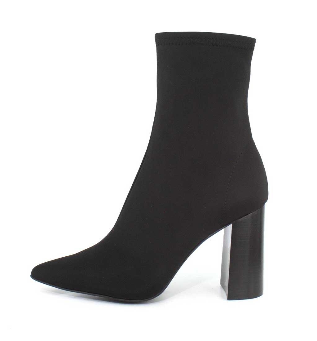 Jeffrey Campbell Women's Siren Block Heel Ankle Booties B075ZN1C66 8.5 B(M) US|Black Neoprene