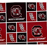 South Carolina Gamecocks NCAA SC Block Collegiate 43 inch 100/% Cotton Fabric SC-020