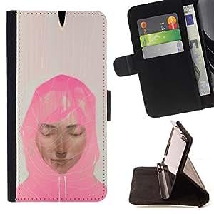 /Skull Market/ - MUSLIM WOMAN PINK SCARF ART PAINTING PORTRAIT For Sony Xperia Z2 D6502 - Caja de la carpeta del tir???¡¯???€????€??????&aci