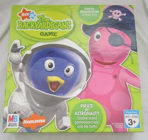 Nick Jr The Backyardigans Game Pirate or Astronaut? Double-Sided Gameboard by Milton Bradley