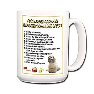 American Cocker Spaniel Property Laws Coffee Tea Mug 15 oz No 1 6