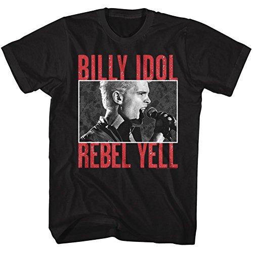 T Billy Classics corta American shirt nera uomo Rebelyell Idol da manica a XSqwXIr