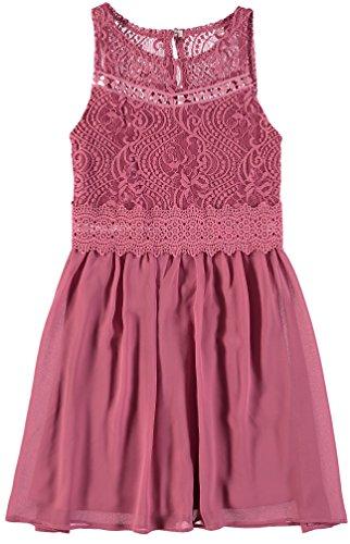 Amy Byer Spandex Skirt - Amy Byer Big Girls' Lace Bodice Chiffon Skirt Dress (Rose Pink, 7)