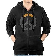 Men Hoodie Overwatch Logo Zip Sweatshirt