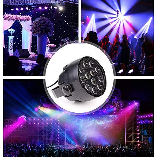 Projector Low Voltage Mini (LOVEPET Mini 12 LED Full Color Par Light Effect Light Flood Light Sound Control Dyeing Lamp KTV Party Bar Stage Lighting Led Par Light Garden Garden Decorative Lights)