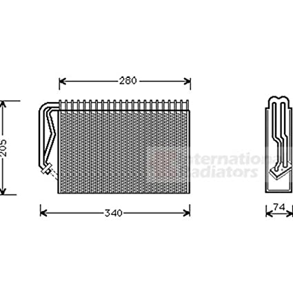 Van Wezel 3700V289 Evaporator, Air Conditioning