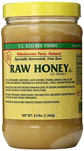 (YS Eco Bee Farms RAW HONEY - Raw, Unfiltered, Unpasteurized - Kosher 3lbs)