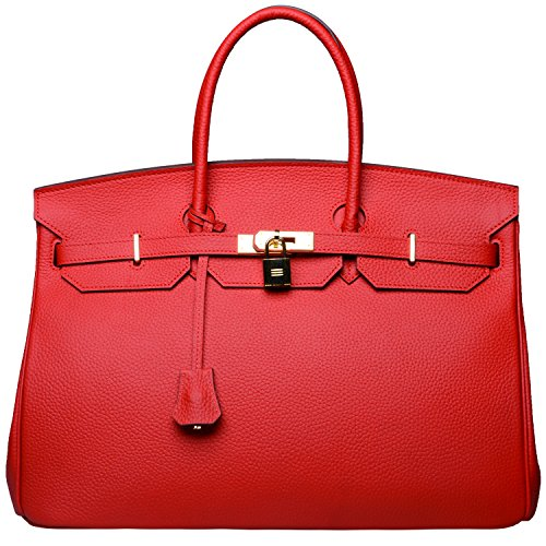 Cherish Kiss 40cm Oversized Padlock Business Office Top Handle Handbags (40cm Bright red) by Cherish Kiss