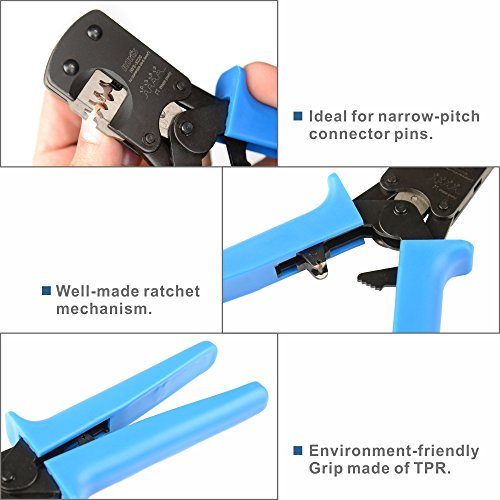 IWISS IWS-3220M Micro Connector Pin Crimping Tool 0 03-0 52mm² 32-20AWG  Ratcheting Crimper for D-Sub,Open Barrel suits Molex,JST,JAE,TYCO-E