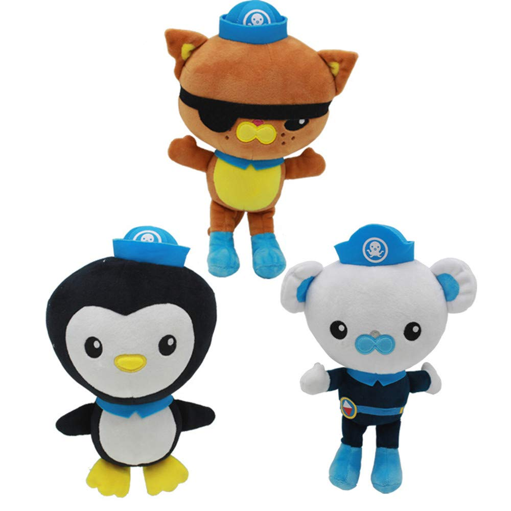 YODE The Octonauts Barnacles Kwazii Plush Soft Toys Stuffed Doll for Children Gifts - 3Pcs/Set